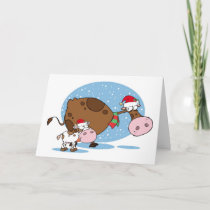 Cow and Calf Holiday Card