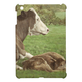 cow and calf in field case for the iPad mini