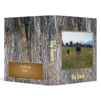 Cow and Calf in May 3 Ring Binder
