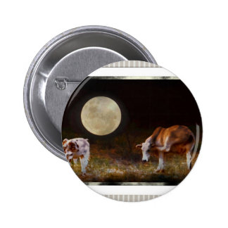 Cow and Calf in the Moolight Button
