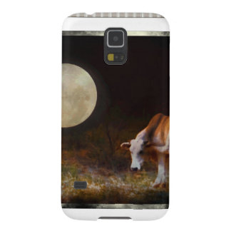 Cow and Calf in the Moolight Galaxy S5 Cover