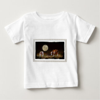 Cow and Calf in the Moolight Tee Shirts