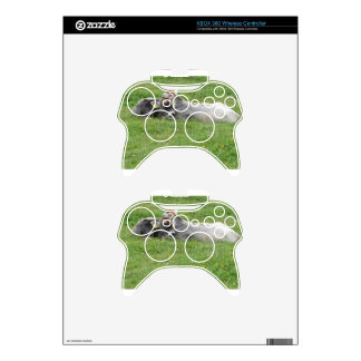 Cow and calf on a summer meadow xbox 360 controller skin