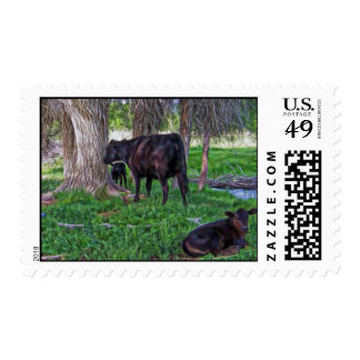 Cow and Calves Postage