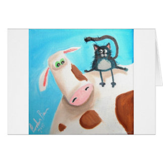 COW AND CAT CARD