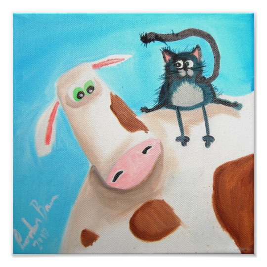 COW AND CAT POSTER