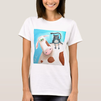 COW AND CAT T-Shirt