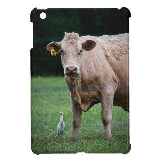 Cow and Egret iPad Cover