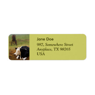 Cow and horse label