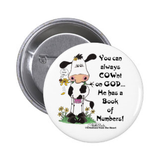 Cow and Ladybug COWnt on God Pins
