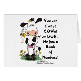 Cow and Ladybug COWnt on God Card