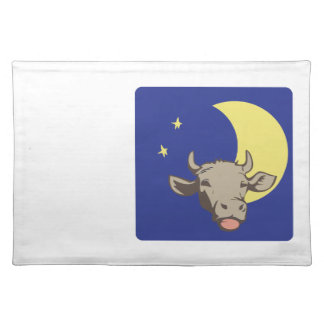 Cow And Moon Placemats