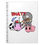 Cow and Pig Schnozzles Barbecue BBQ Cartoon Spiral Notebook