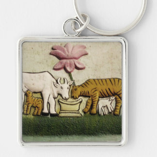 Cow and Tigress Key Chain