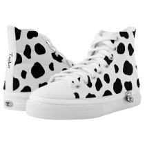 Cow Animal Print with Custom Name High-Top Sneakers
