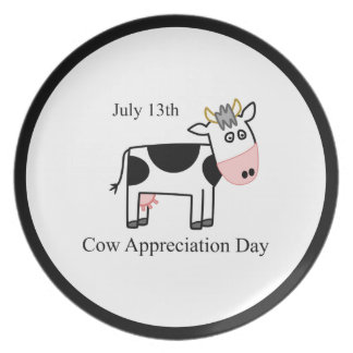 Cow Appreciation Day Dinner Plate
