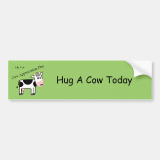Cow Appreciation Day Just Another Holiday Bumper Sticker