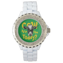 Cow Are You Today Funny Slogan Wrist Watch