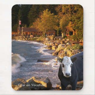 Cow at the Cabins Mousepad