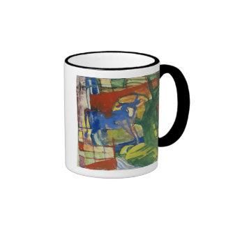 Cow azul, 1914 (tempera en el papel) taza de café