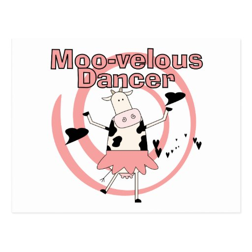 Cow Ballerina Tshirts and Gifts Post Cards