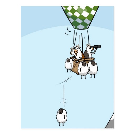 Cow Ballooning Post Card