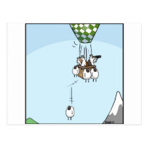 Cow Ballooning Postcard