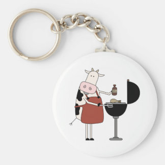 Cow Barbeque Tshirts and Gifts Key Chains