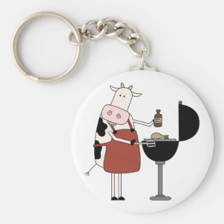 Cow Barbeque Tshirts and Gifts Keychains
