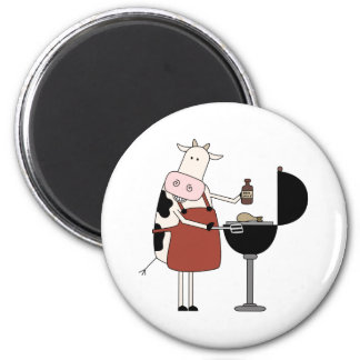Cow Barbeque Tshirts and Gifts Refrigerator Magnets