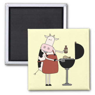 Cow Barbeque Tshirts and Gifts Magnets