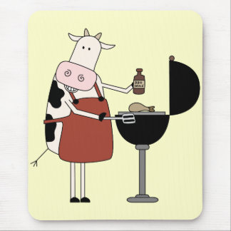 Cow Barbeque Tshirts and Gifts Mouse Pad