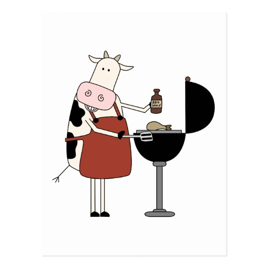 Cow Barbeque Tshirts and Gifts Postcard