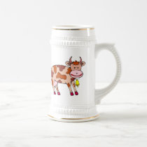 Cow Bell Beer Stein