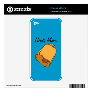 Cow Bell Skin For The iPhone 4