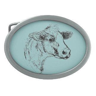 Cow Belt Buckle