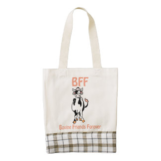 Cow BFF Zazzle HEART Tote Bag