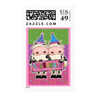 Cow Birthday Cards and Postage Stamps