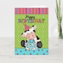 Cow Birthday greeting card