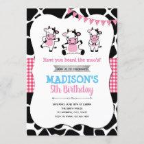 Cow Birthday Invitation
