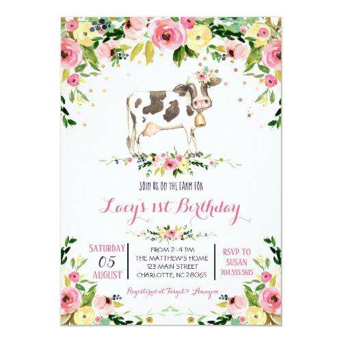 Cow Birthday Invitation, cow birthday invitation