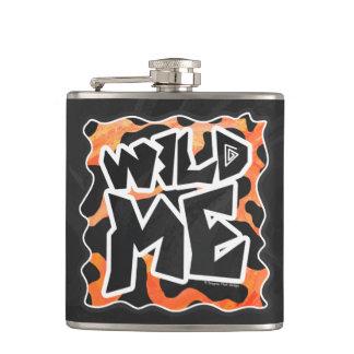Cow Black and Orange Wild Me Flask