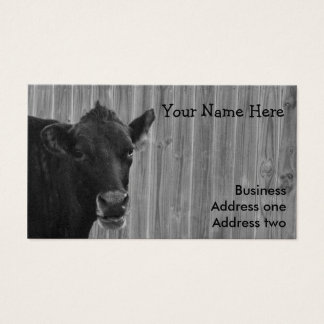 Cow Black and White Business Card