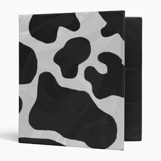 Cow Black and White Print 3 Ring Binder