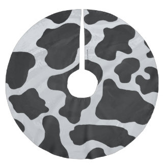 Cow Black and White Print Brushed Polyester Tree Skirt