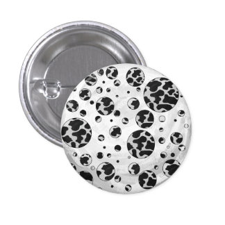Cow Black and White Print Pinback Buttons