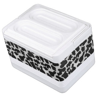 Cow Black and White Print Cooler
