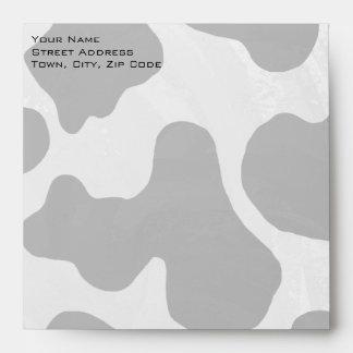 Cow Black and White Print Envelopes