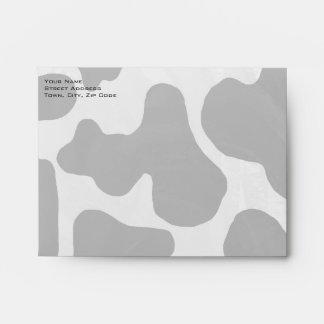 Cow Black and White Print Envelope