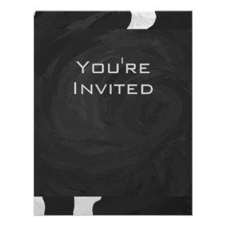 Cow Black and White Print Invite